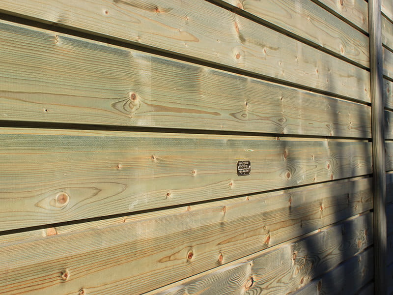 Horizontal timber fencing